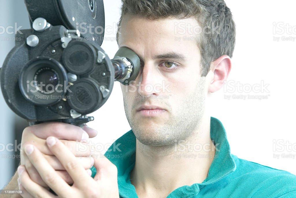 Film maker stock photo