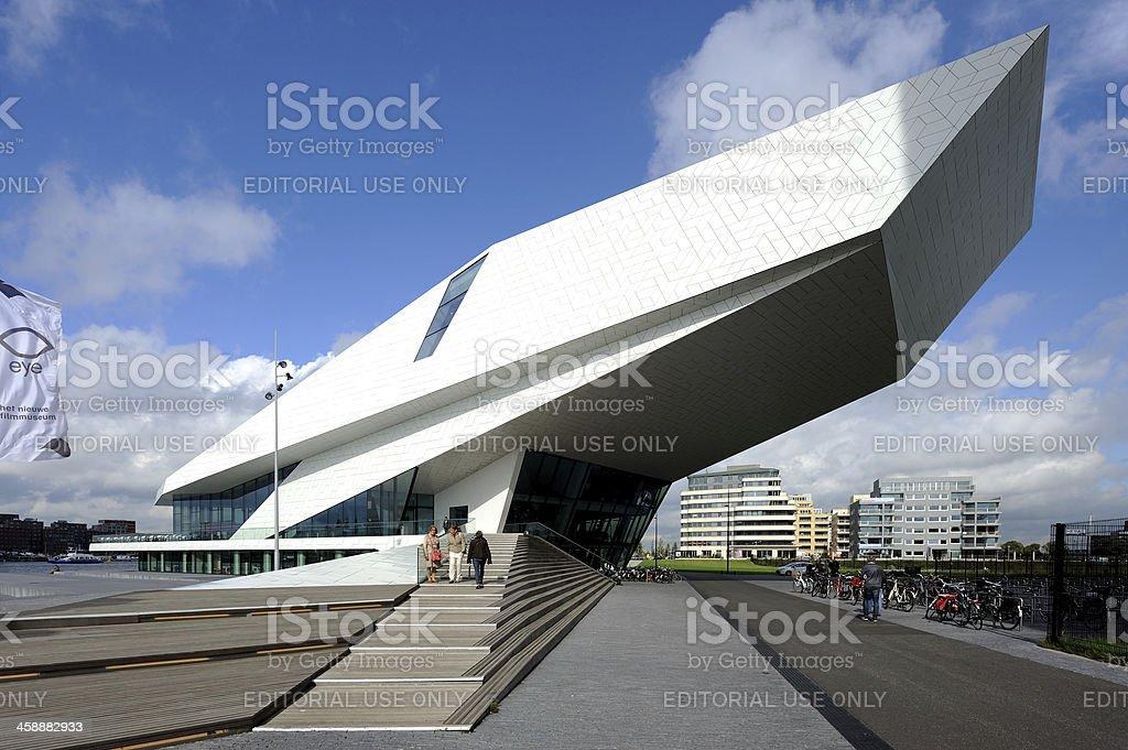 Film museum Eye in Amsterdam royalty-free stock photo