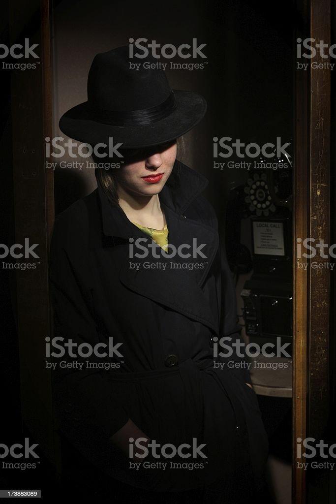 Film Noir Femme Fatale royalty-free stock photo
