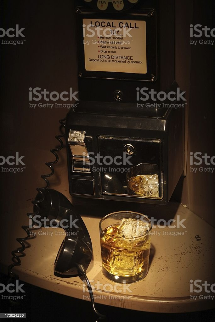 Film Noir Phone Booth - Scotch royalty-free stock photo