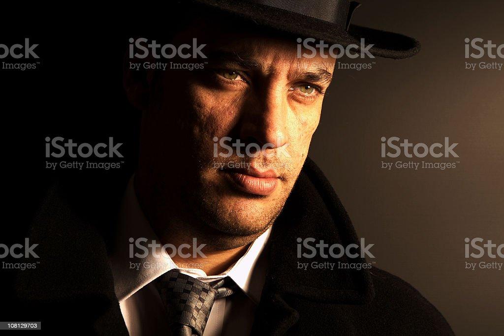 film noir portrait royalty-free stock photo
