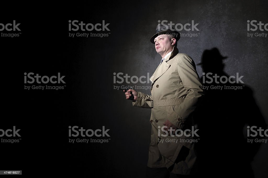 film noir style gangster royalty-free stock photo