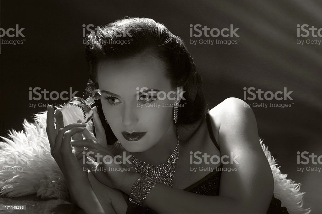 Film Noir Style.Forbidden fruit stock photo