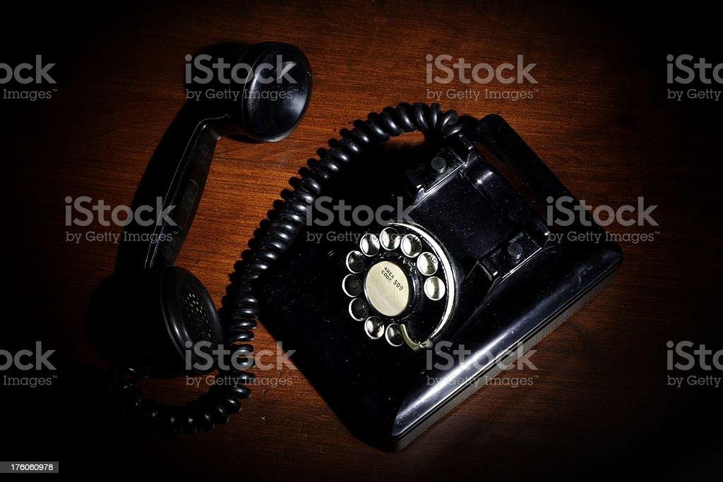 Film Noir Telephone royalty-free stock photo