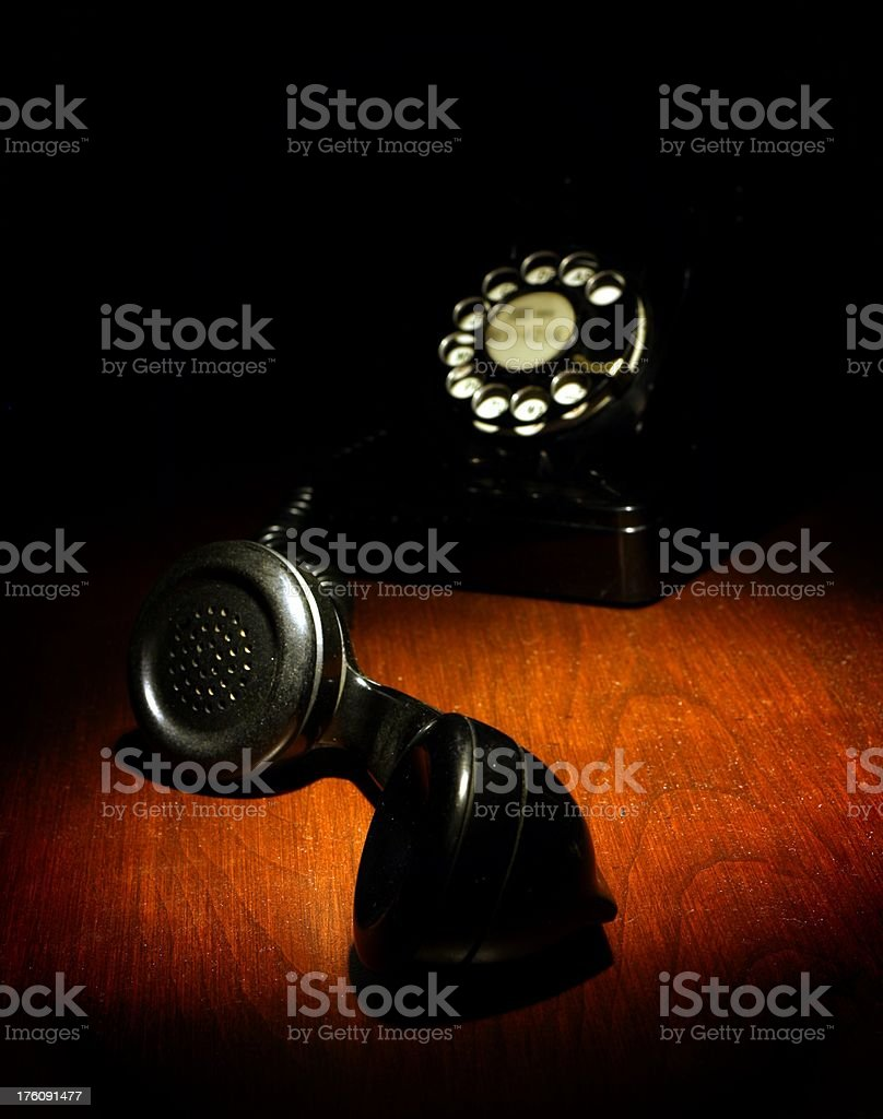 Film Noir Telephone royalty-free stock photo