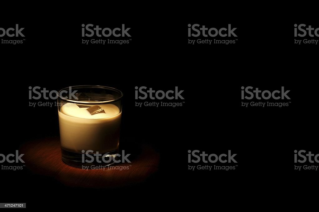Film Noir White Russian with Copy Space royalty-free stock photo