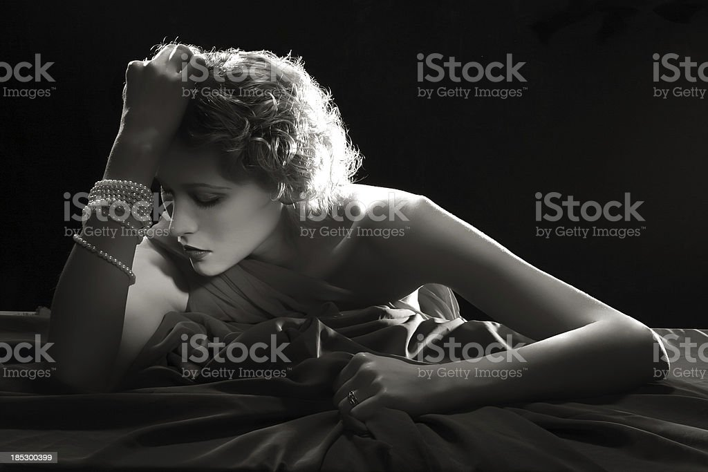 Film Noir.Desperation stock photo