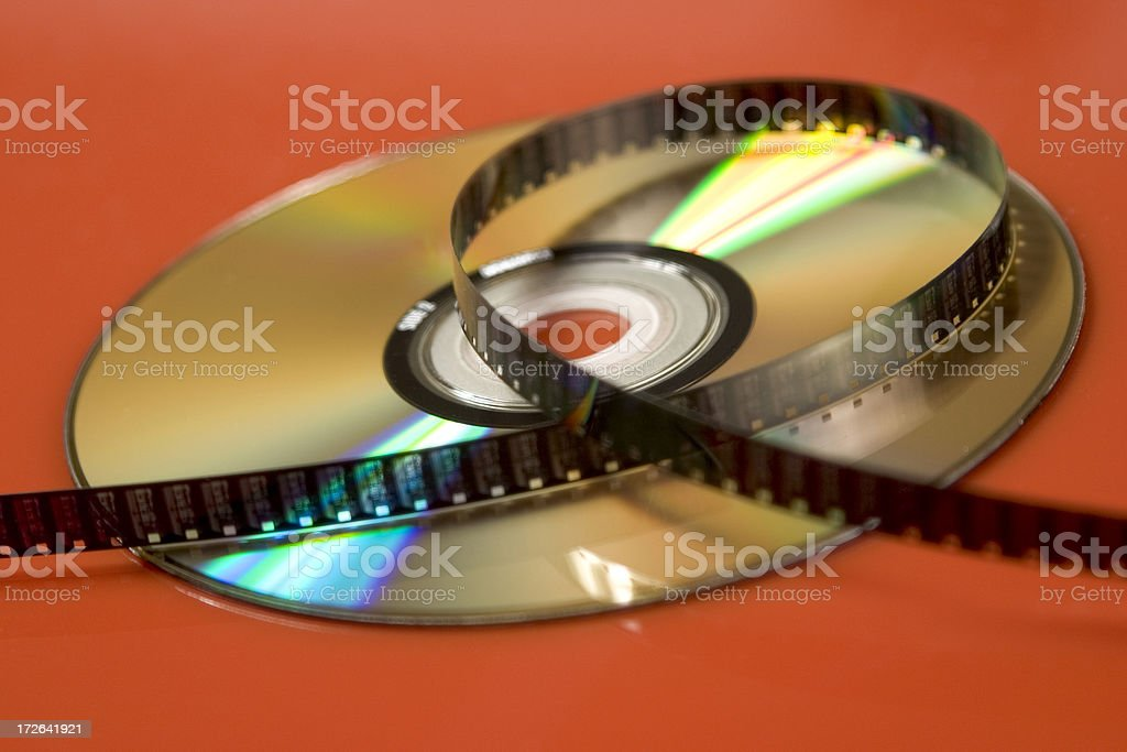 Film on DVD royalty-free stock photo