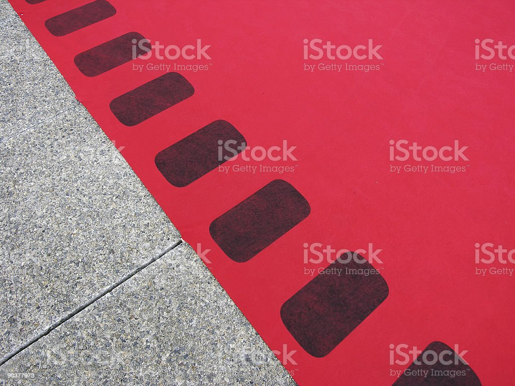 Film or Red Carpet royalty-free stock photo
