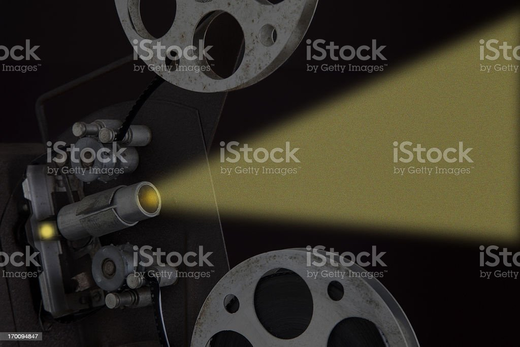 Film projection stock photo