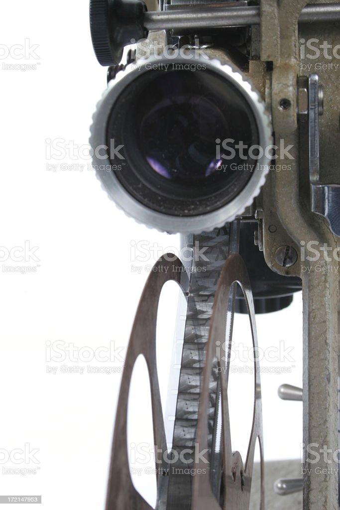 Film Projector Closeup royalty-free stock photo