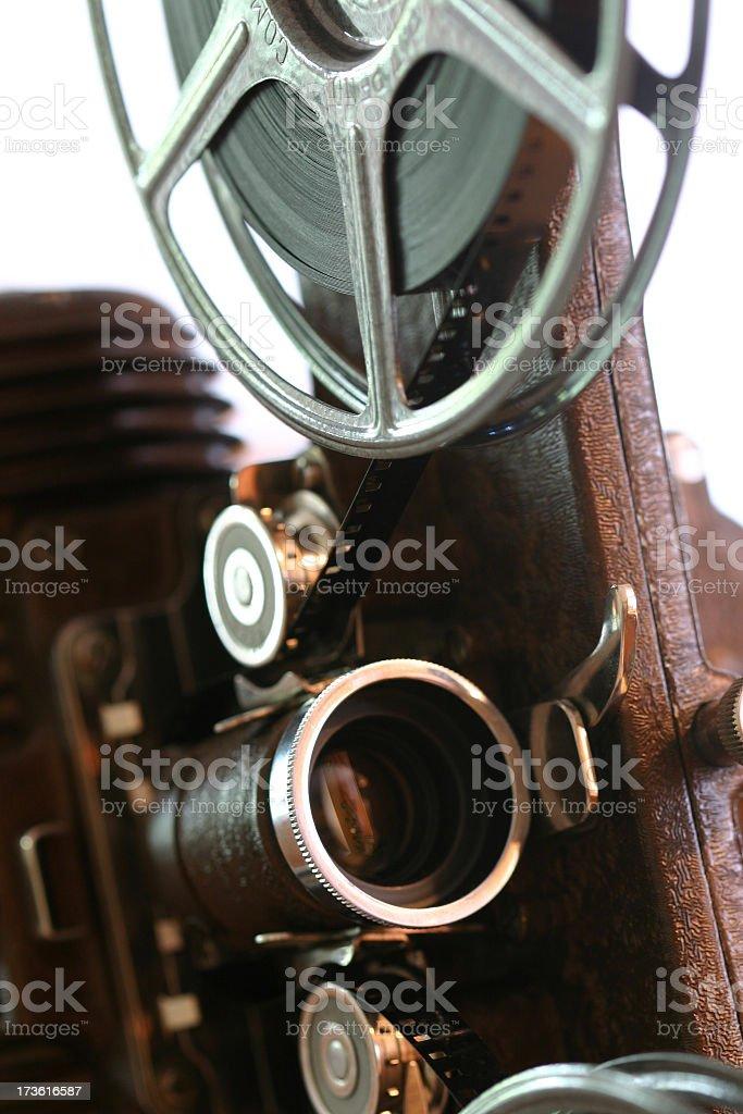 Film Projector closeup stock photo