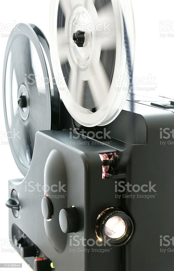 Film projector stock photo