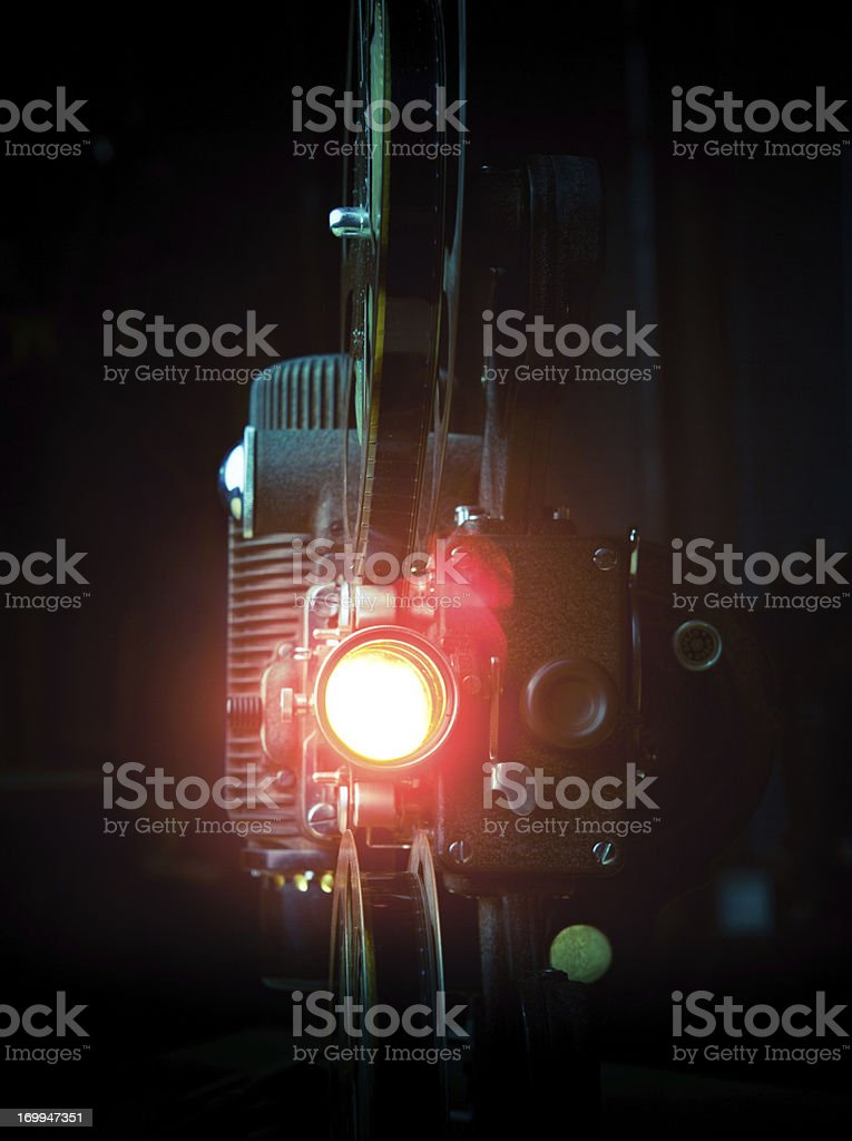 Film Projector with Lens Flare stock photo
