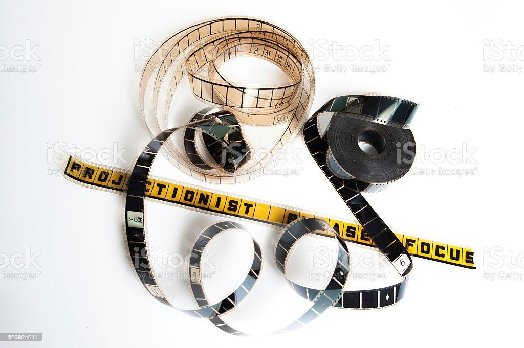 Film reel: projectionist please focus stock photo