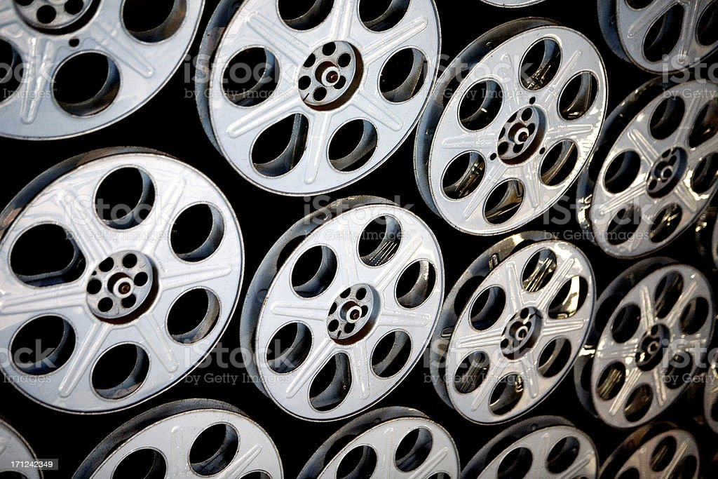 Film Reels in Hollywood royalty-free stock photo