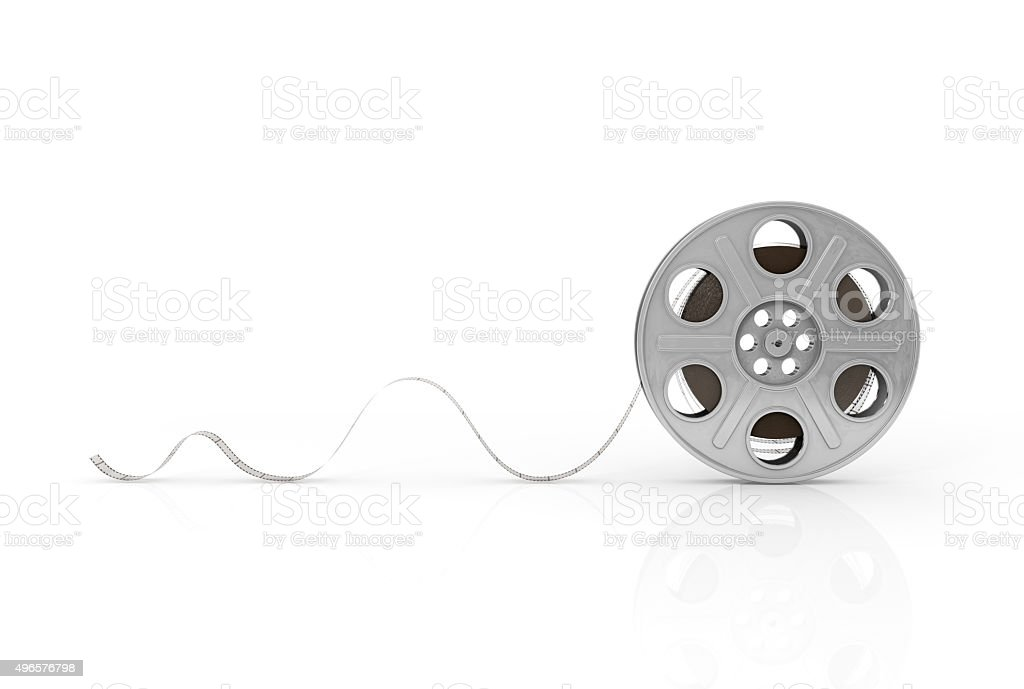Film reels on a white background. stock photo