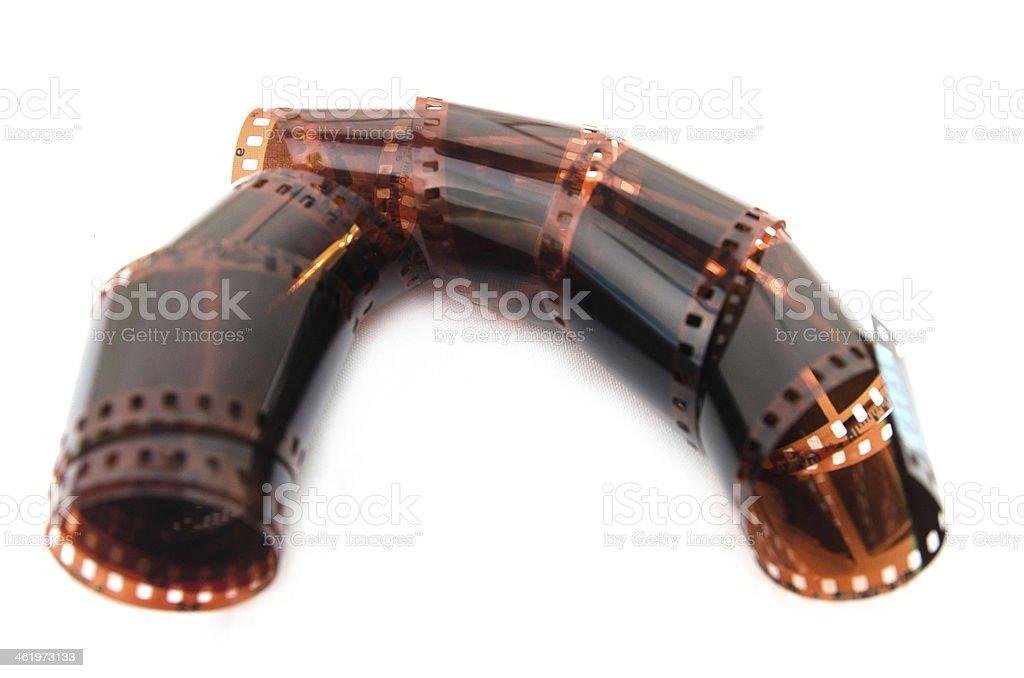 film ribbon isolated on white stock photo