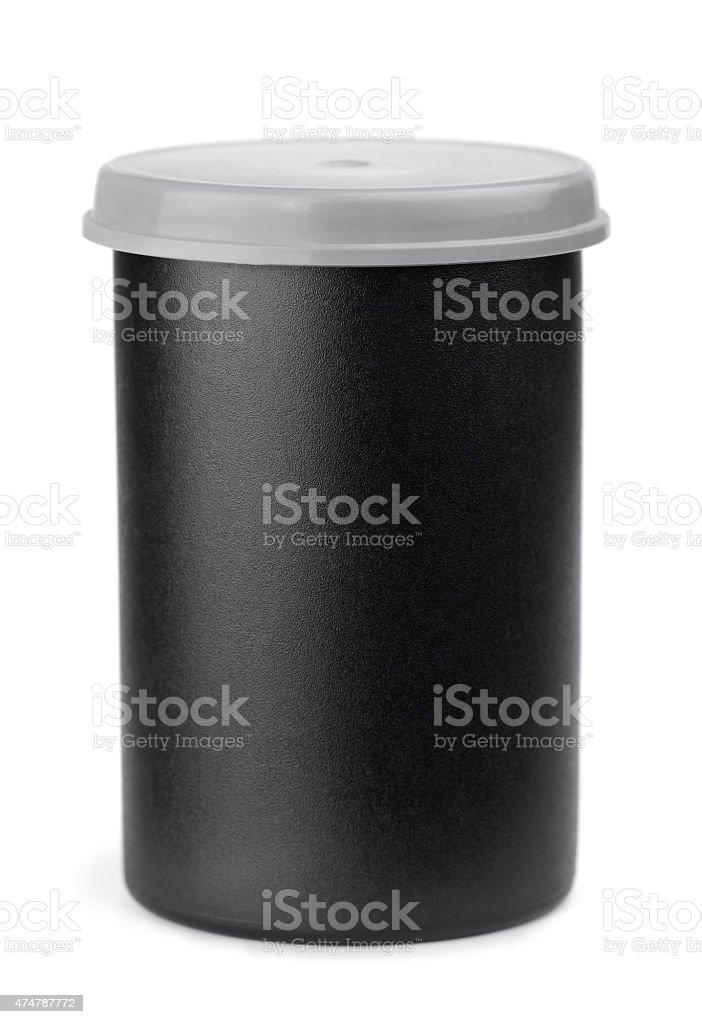 Film roll case stock photo