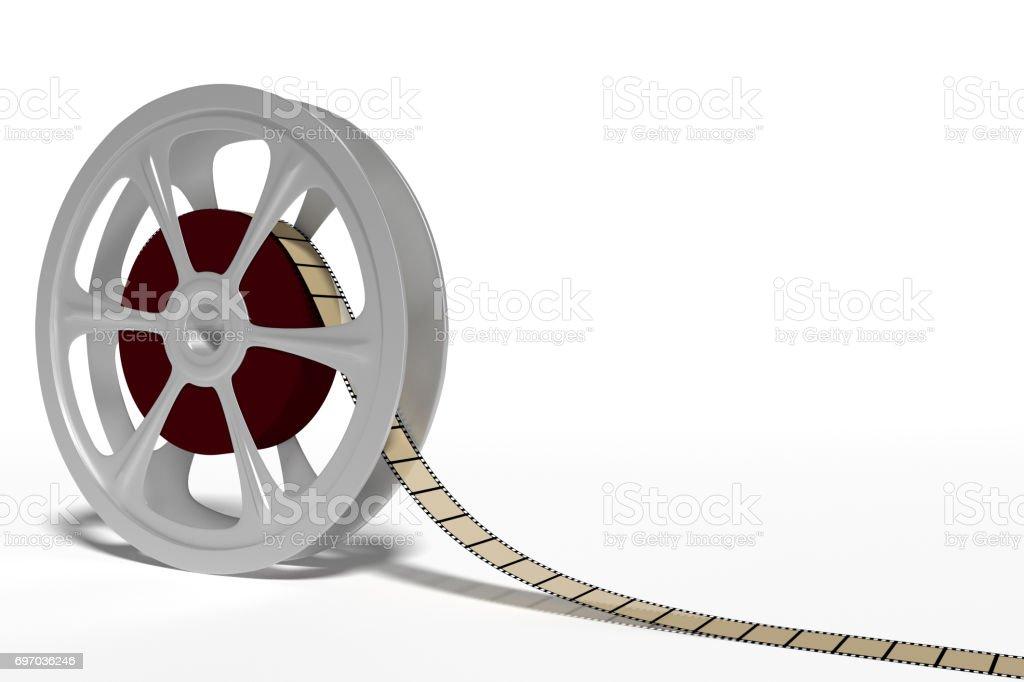 film roll cinema industry stock photo