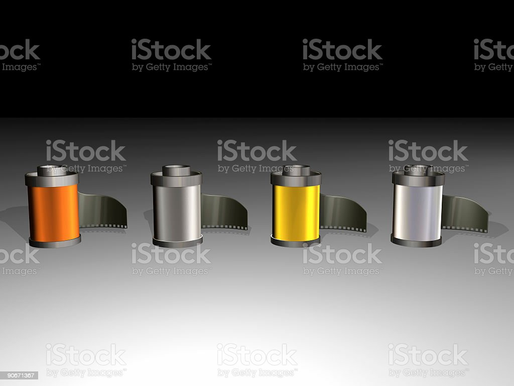 Film Roll Line royalty-free stock photo