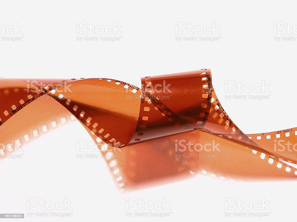 Film roll on white royalty-free stock photo