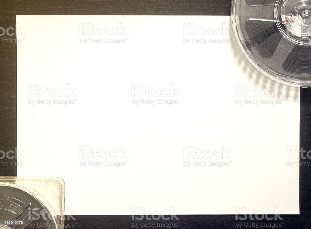 Film Score Writing Title space Backgorund Vitnage tone stock photo