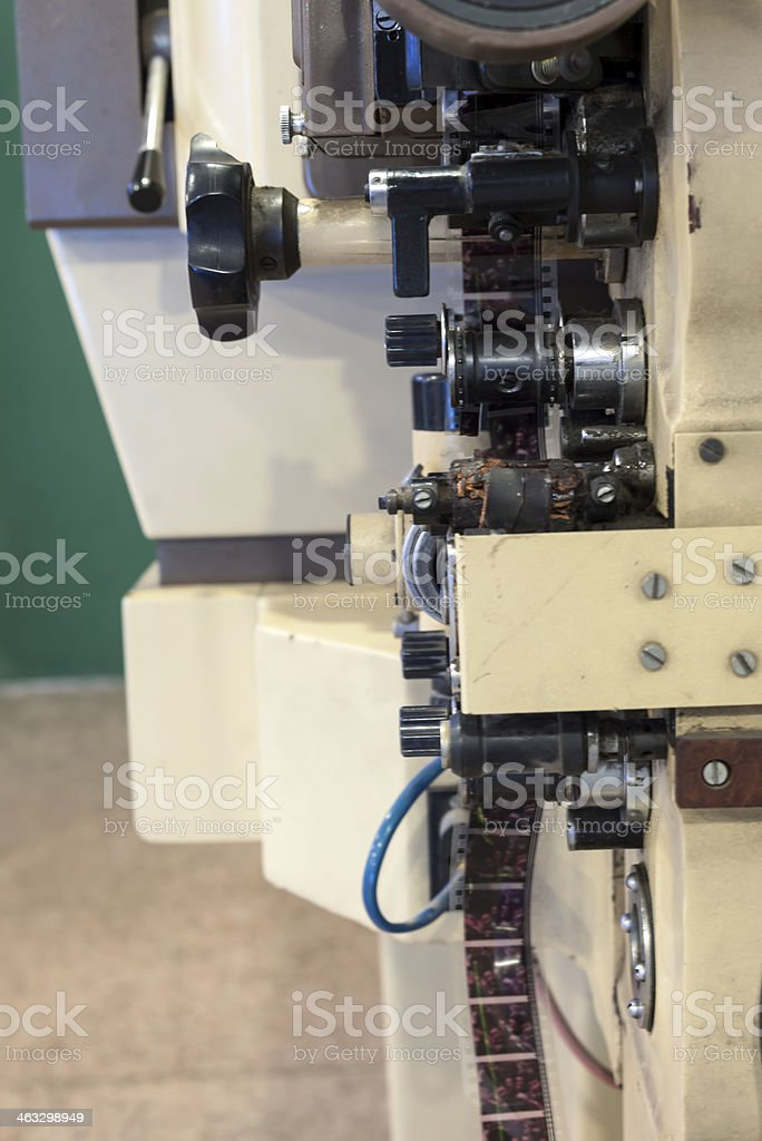 Film screening machine royalty-free stock photo