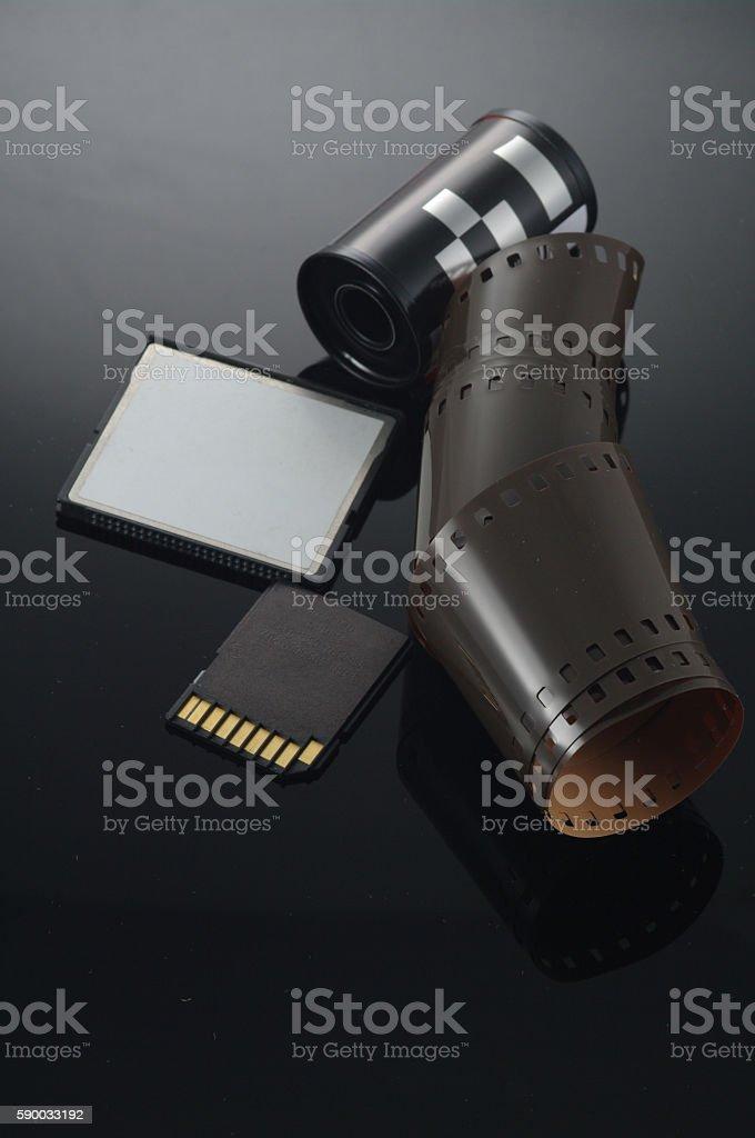 film sd card roll stock photo