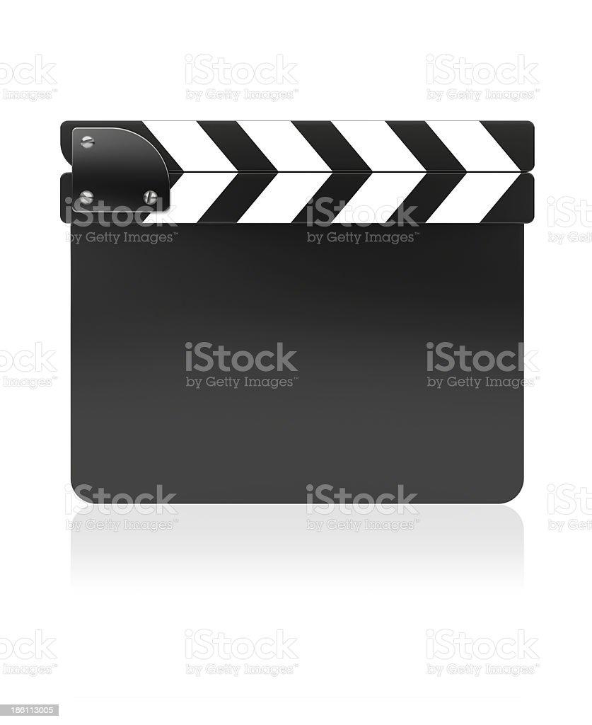Film slate board stock photo