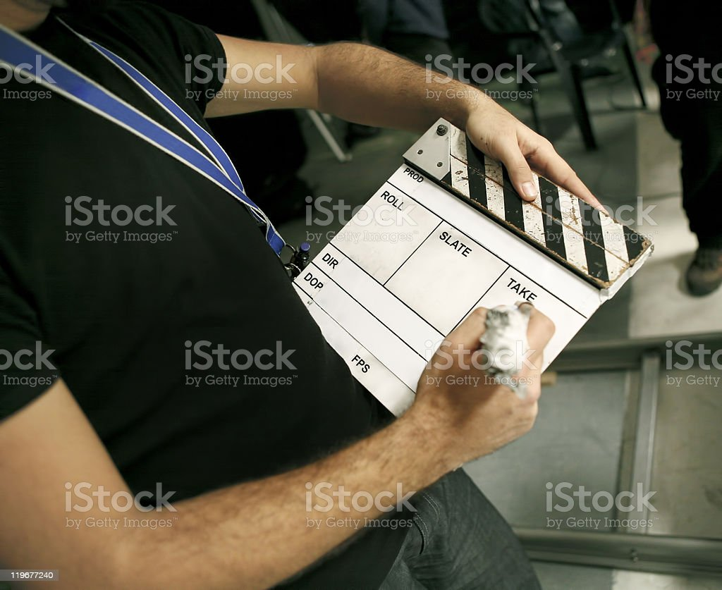 film slate royalty-free stock photo
