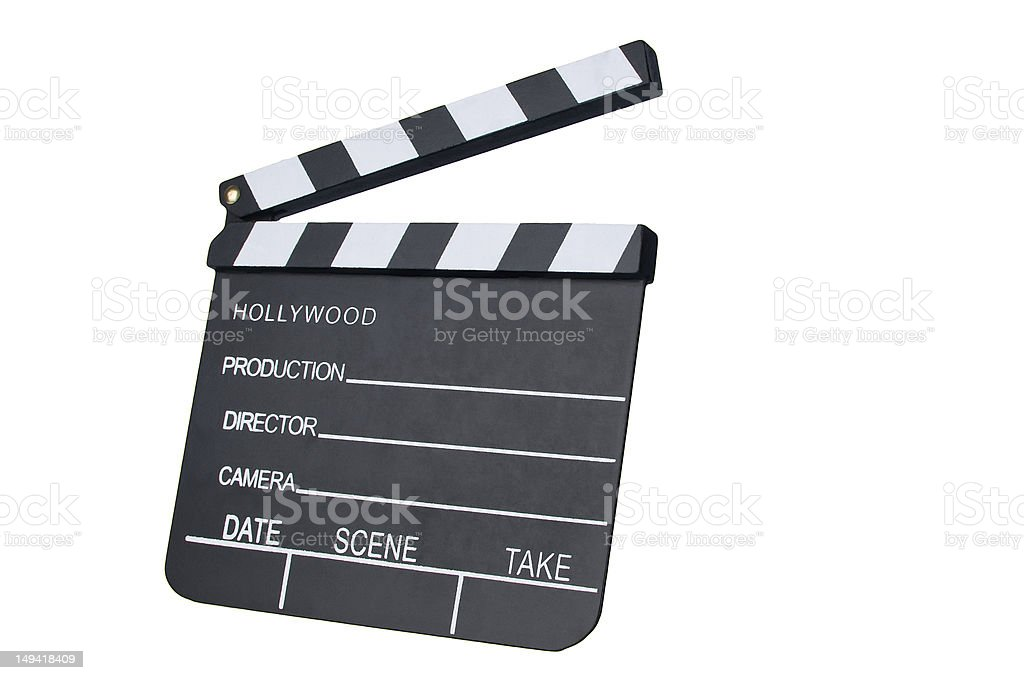 Film Slate with clipping path royalty-free stock photo