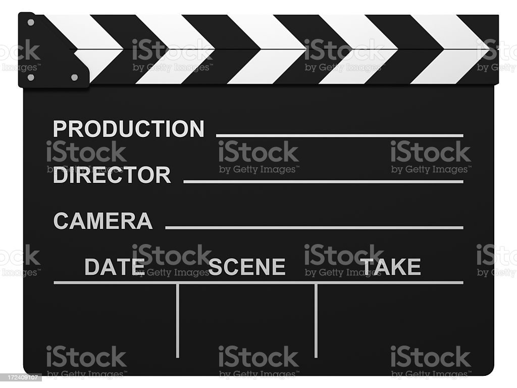 Film Slate with Clipping Path stock photo