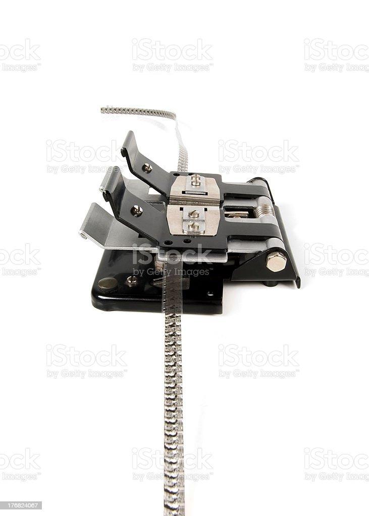 Film splicer stock photo