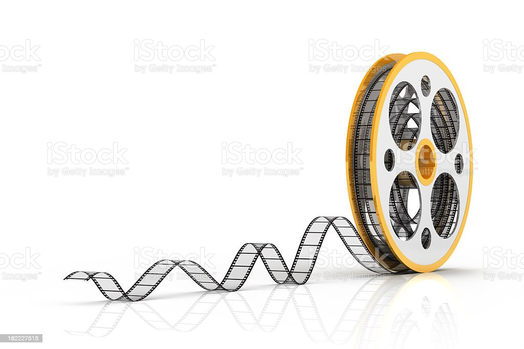 film strip and reel stock photo