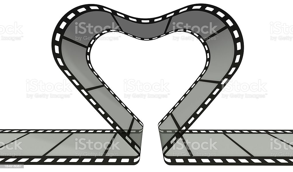 Film strip in heart shape royalty-free stock photo