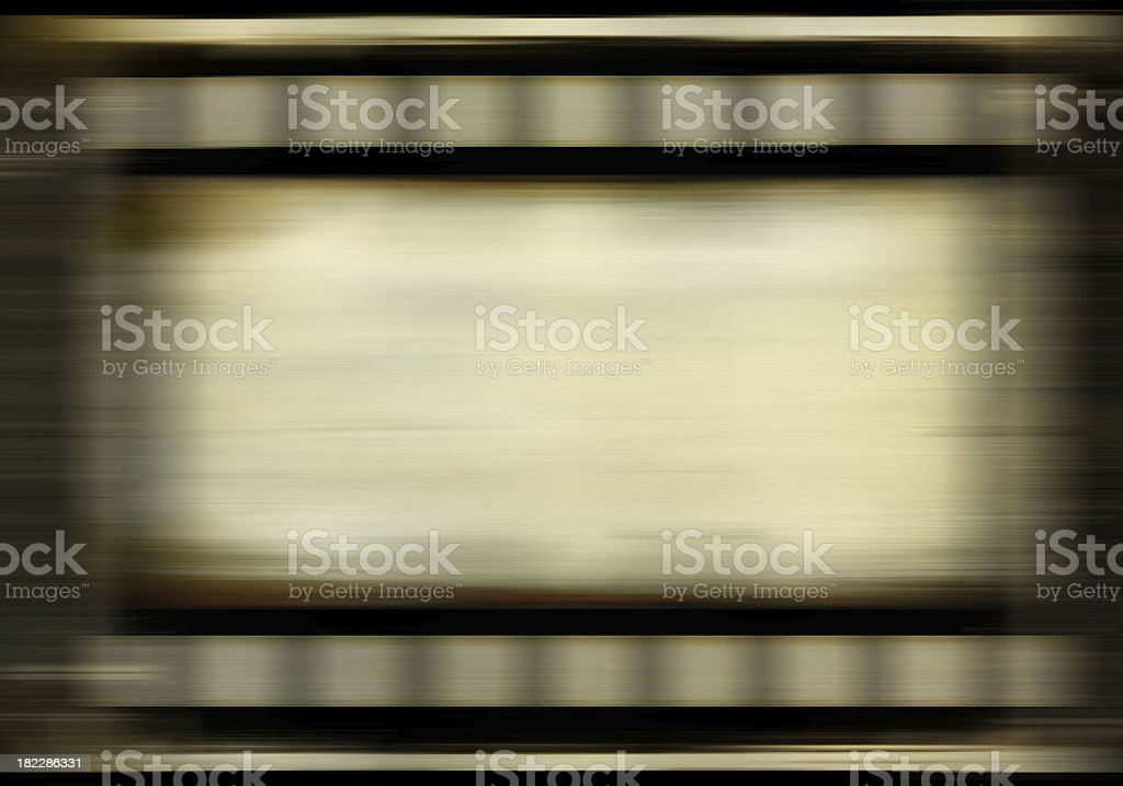 Film strip on the move stock photo