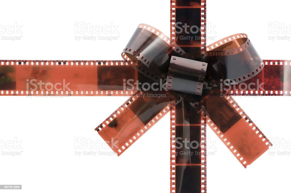 film tape bow royalty-free stock photo