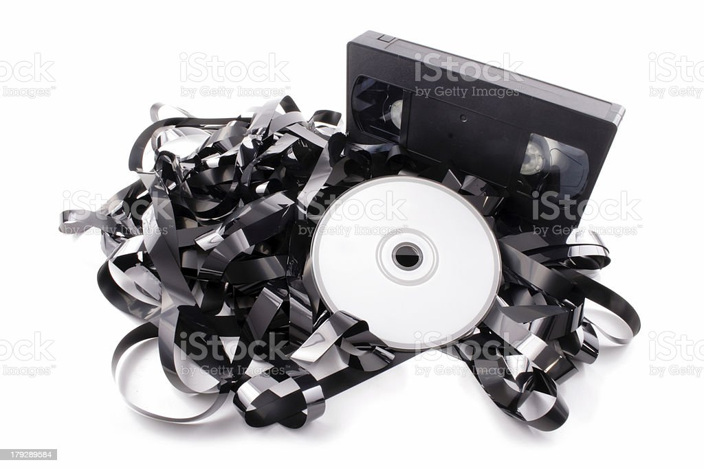 Film to DVD stock photo