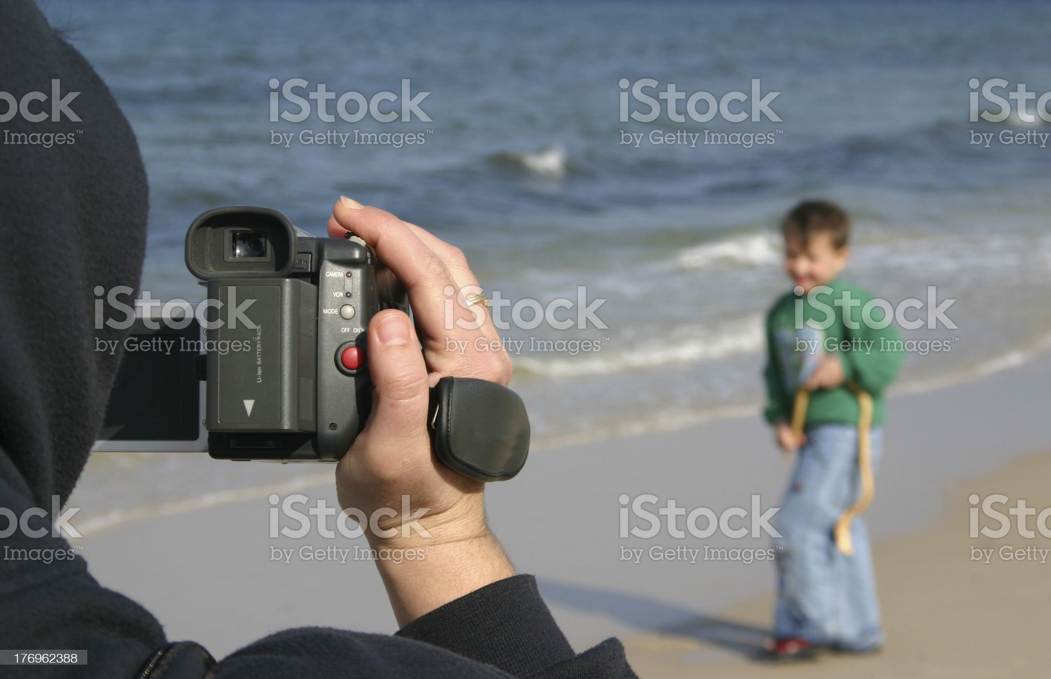 Filming A Boy royalty-free stock photo