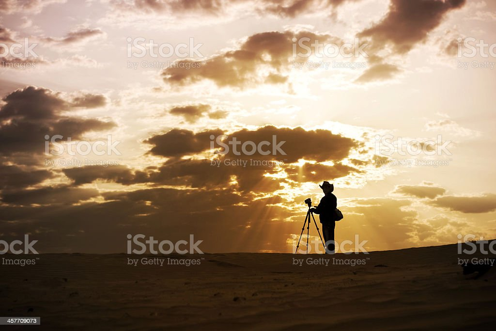 Filming At Sunrise royalty-free stock photo