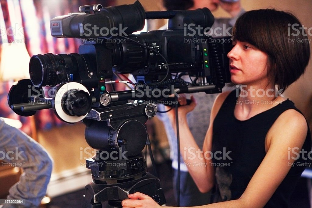 Filming stock photo