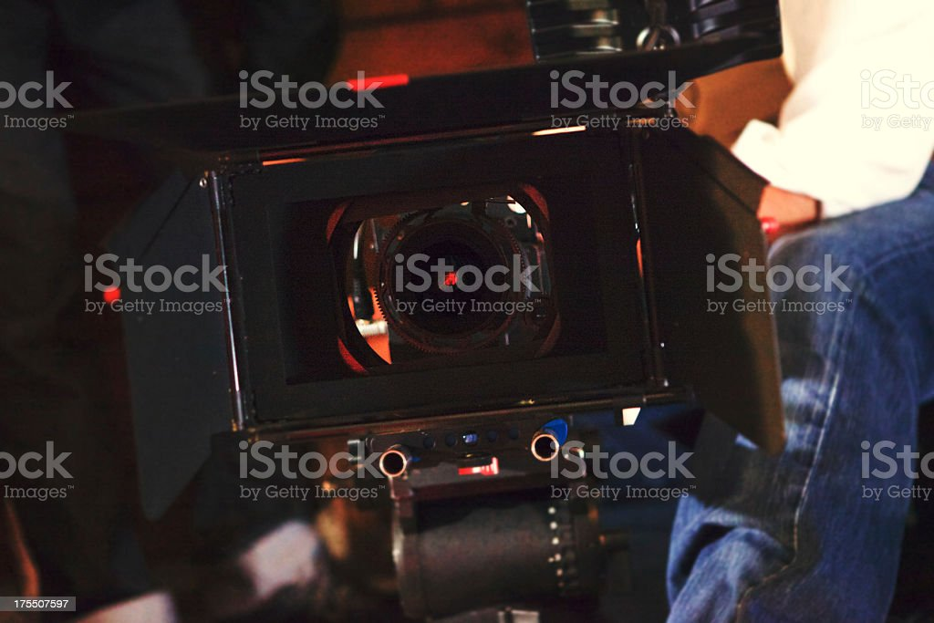 Filming royalty-free stock photo