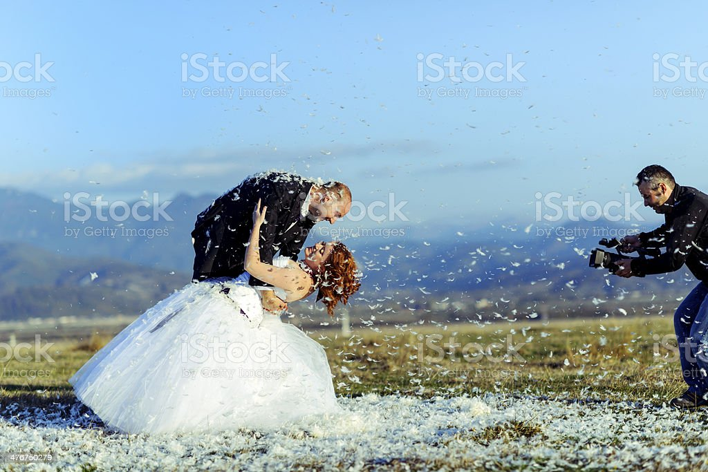 filming wedding royalty-free stock photo