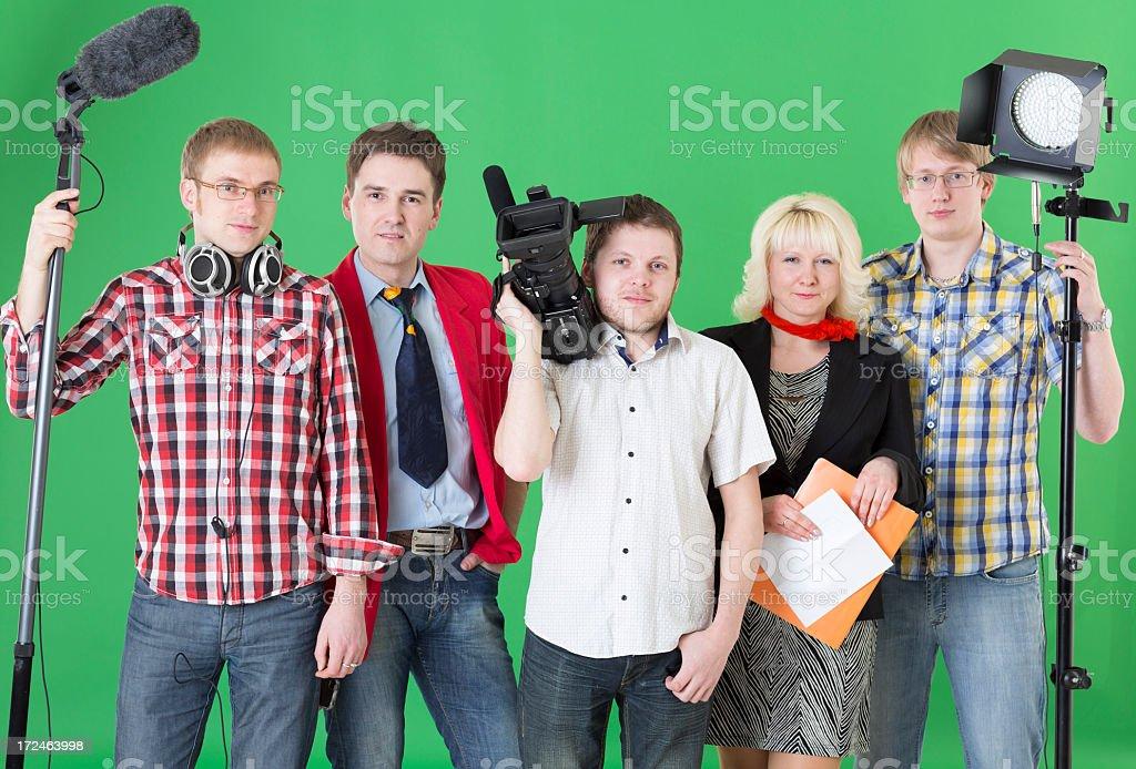Filmmaking team stock photo