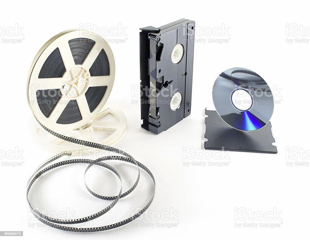 films format VHS DVD royalty-free stock photo