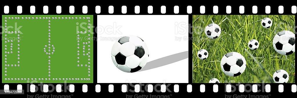 Filmstreifen Fußball stock photo