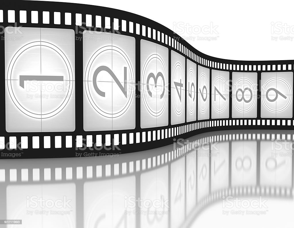 Filmstrip Countdown royalty-free stock photo