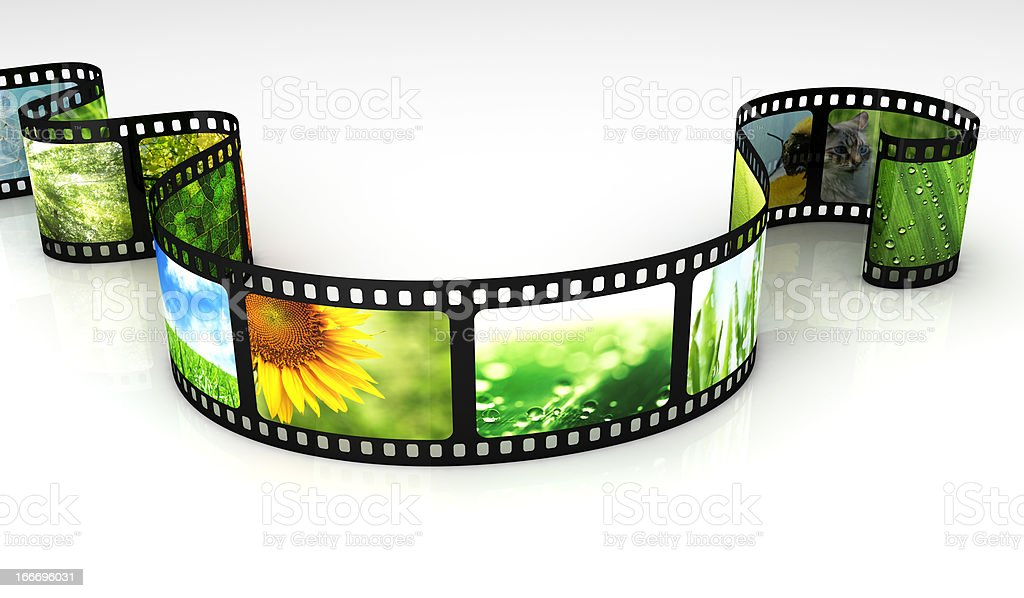 Filmstrip with images royalty-free stock photo