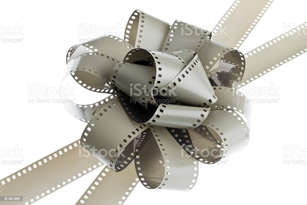 filmstrips bow stock photo